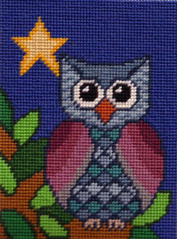 Little Owl Tapestry Kit Needlepoint Kit, Designers Needle