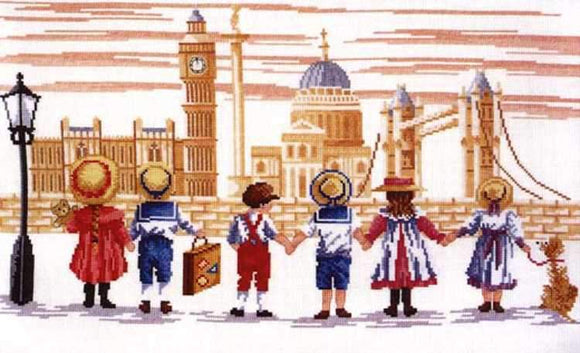 London Cross Stitch Kit, All Our Yesterdays FW40