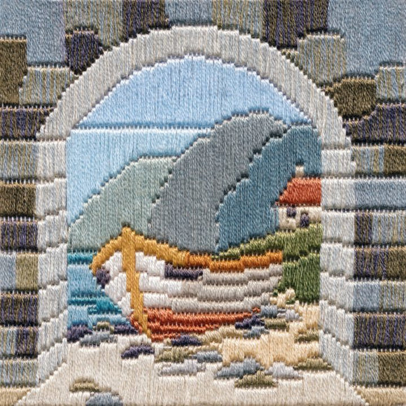 Long Stitch Kit, Boat Thru Archway Long Stitch SLS3