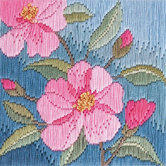 Long Stitch Kit, Camelias Long Stitch SLS14