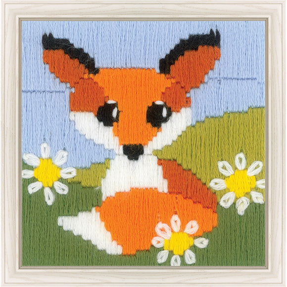 Long Stitch Kit, Fox in Daisies Long Stitch Mini Kit R1714