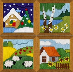 Long Stitch Kits, Landscape Long Stitch Mini Kits - SET of 4 R1650-3
