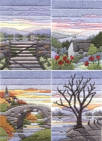 Long Stitch Kits, Evening Seasons Long Stitch Kits - SET of 4