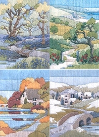Long Stitch Kits, Seasons Walks Long Stitch Kits - SET of 4