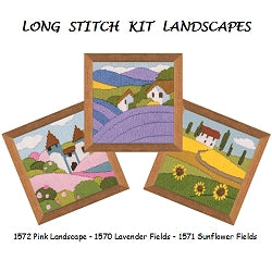 Long Stitch Kits, Landscape Long Stitch Kits - SET of 3 R1570-2