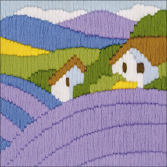 Long Stitch Kit, Lavender Field Landscape Long Stitch R1570