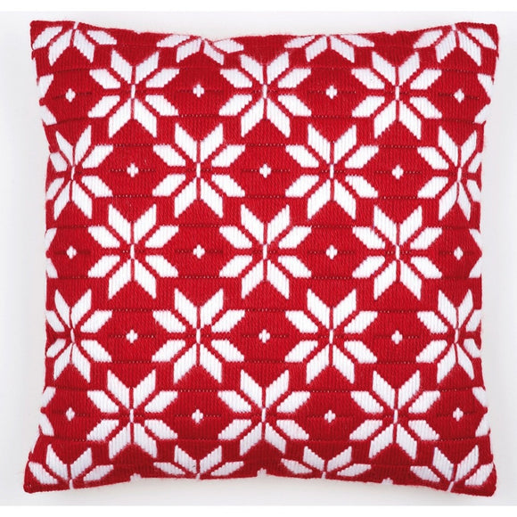 Nordic Stars Long Stitch Kit, Vervaco Cushion Front 1530/2010