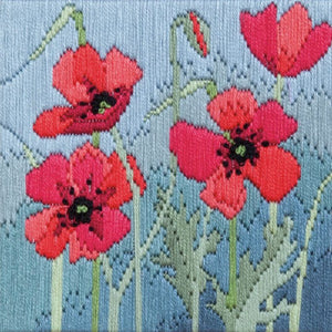 Long Stitch Kit, Wild Poppies Long Stitch SLS15