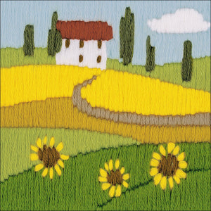 Long Stitch Kit, Sunflower Field Landscape Long Stitch R1571