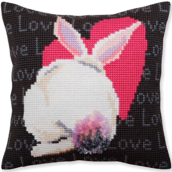 Love Rabbit CROSS Stitch Tapestry Kit, Collection D'Art CD5381
