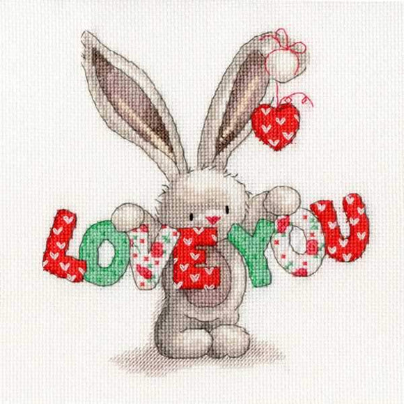 Love You Cross Stitch Kit, Bebunni, Bothy Threads XBB9