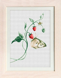 Butterfly, Aroma of Summer Counted Cross Stitch Kit, Luca-s B2268