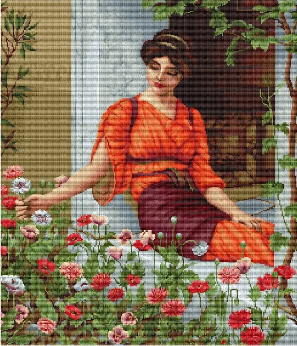 Flowers of Summer, Counted Cross Stitch Kit Luca-s B474