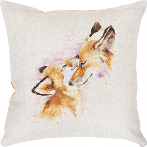 Cross Stitch Kit Foxes Cushion, Counted Cross Stitch Kit Luca-s PB163
