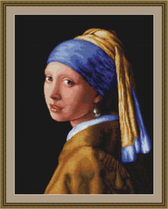 Girl with the Pearl Earring, Counted Cross Stitch Kit Luca-s B467