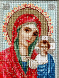 Mother of God of Kazan, Counted Cross Stitch Kit Luca-s BR111
