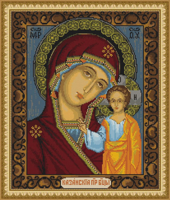Icon M.D de la Cazani, Counted Cross Stitch Kit Luca-s B436