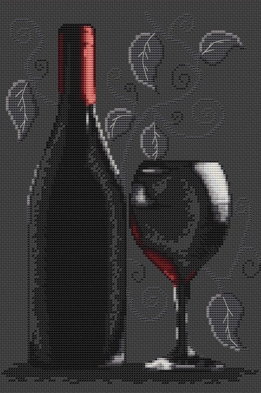 Red Wine Cross Stitch Kit Luca-s B2220