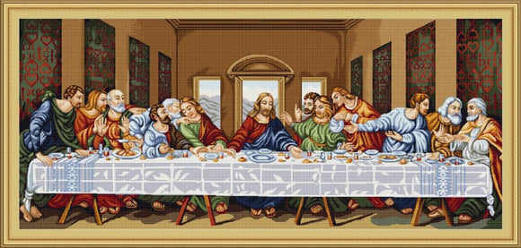 Petit Point Kit The Last Supper, COUNTED Half Cross Stitch Luca-s G407