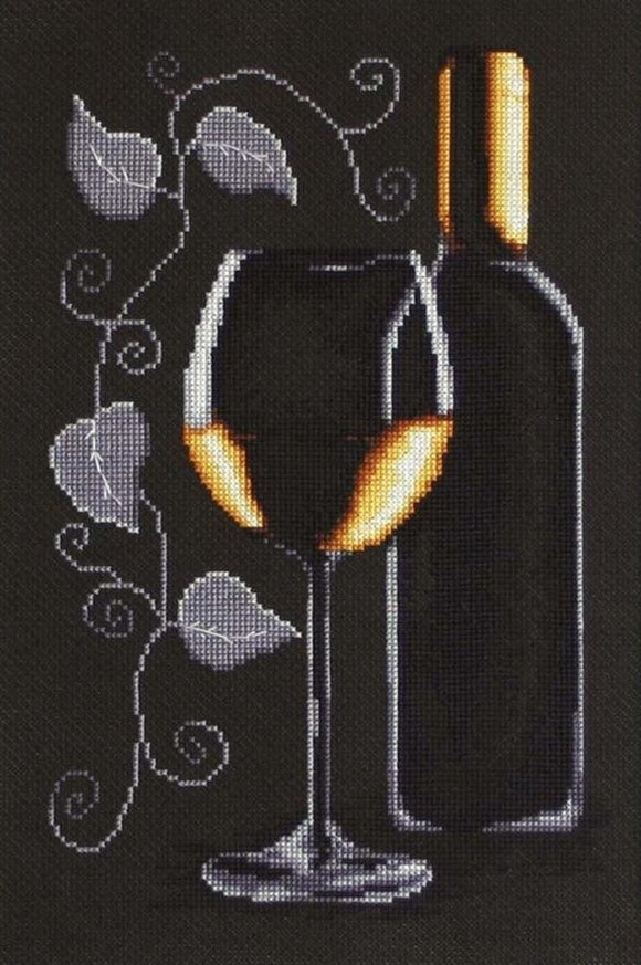 White Wine Cross Stitch Kit Luca-s B2221