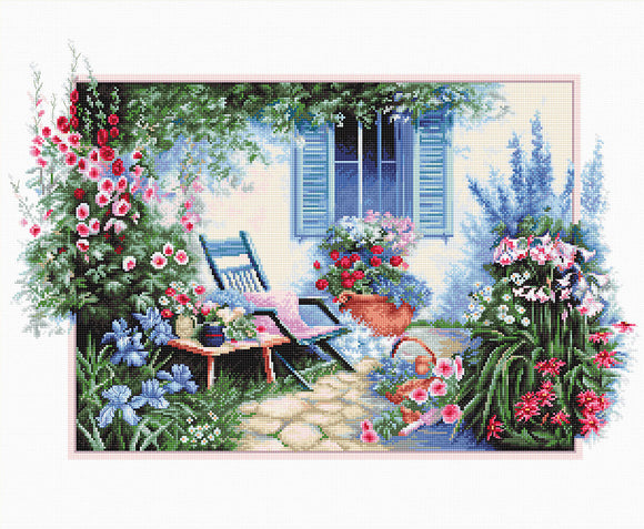 Cross Stitch Kit Flower Garden, Counted Cross Stitch Luca-s B2342