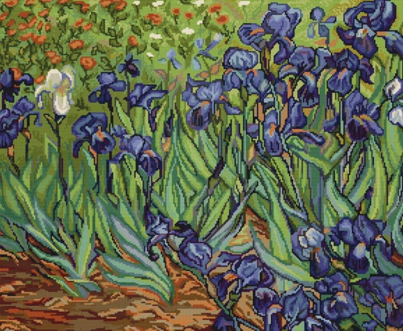 Van Gogh Irises Cross Stitch Kit, Luca-s B444