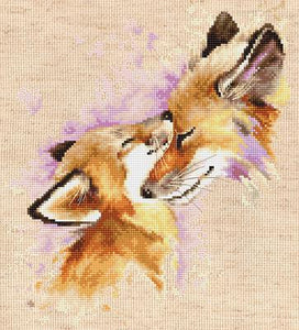 Foxes Cross Stitch Kit Luca-s B2312