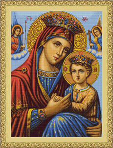 Icon Mother and Son, Counted Cross Stitch Kit Luca-s B428