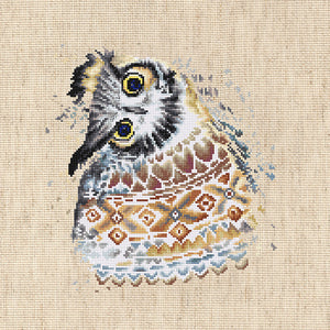 Cross Stitch Kit Native Owl, Counted Cross Stitch Kit Luca-s B2311