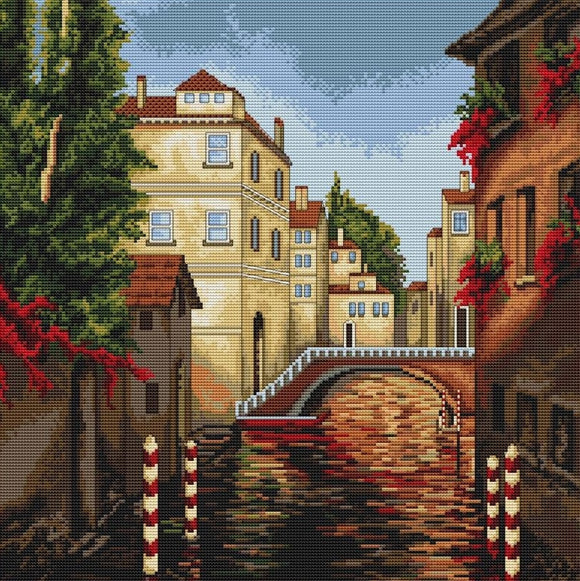 Cross Stitch Kit Venice, Counted Cross Stitch Luca-s B202