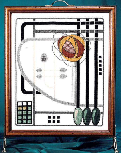 Macintosh Firescreen Cross Stitch Kit, Art Deco BT342