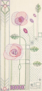 Creative Blackwork Embroidery Kit, Mackintosh Evening Rose MKP8