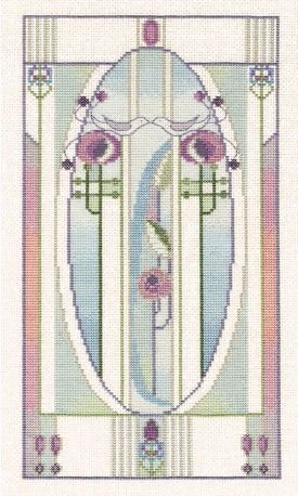 Mackintosh Love Birds, Counted Cross Stitch Kit Derwentwater MKP3