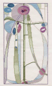 Mackintosh Rose Boudoir, Counted Cross Stitch Kit Derwentwater MKP2