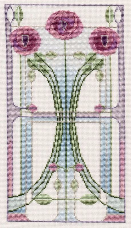 Mackintosh Rose Bouquet Cross Stitch Kit Derwentwater MKP1