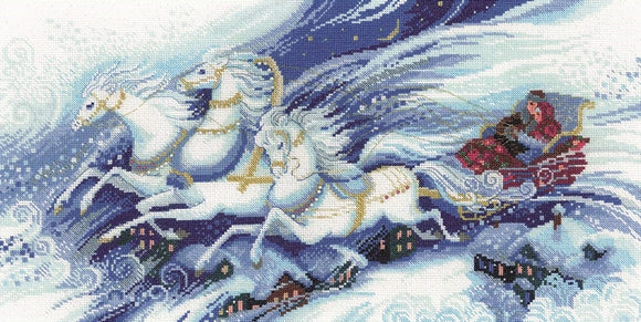 Magical Sleigh Ride Cross Stitch Kit, Riolis R100/046