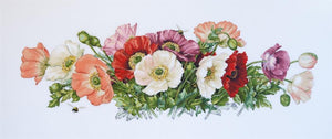 Poppies Cross Stitch Kit, Merejka K-033A