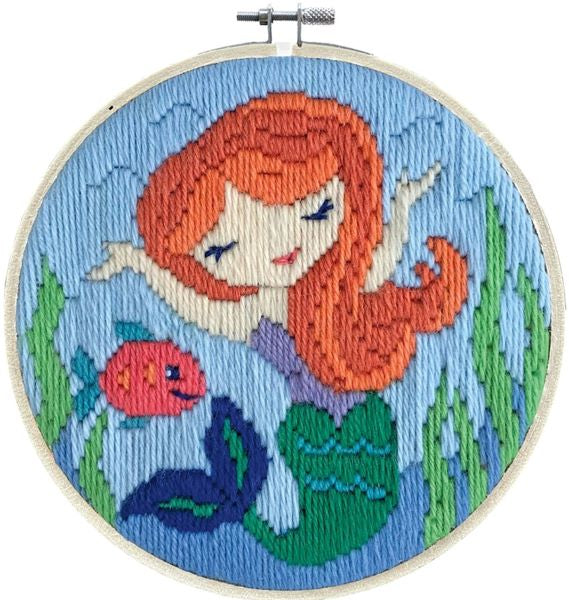 Mermaid Song Long Stitch Kit, Needleart World LST3-007