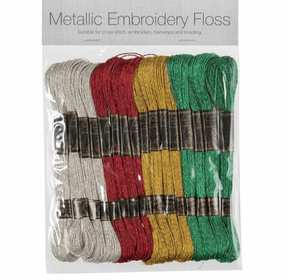 Metallic Stranded Embroidery Thread - Thread Pack 16/Trimits7