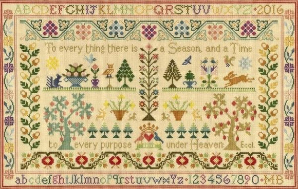 Season and Time Sampler, Counted Cross Stitch Kit Moira Blackburn