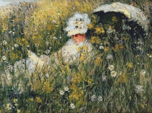 Monet, In the Meadow, Claude Monet Fine Art Cross Stitch Kit