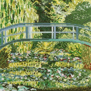 Monet Japanese Bridge Cross Stitch Kit,  Bothy Threads