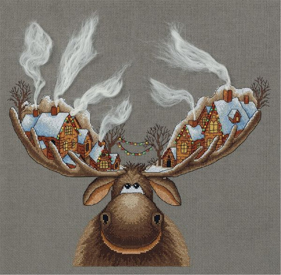 Christmas Moose Cross Stitch Kit, Panna ZM-7103