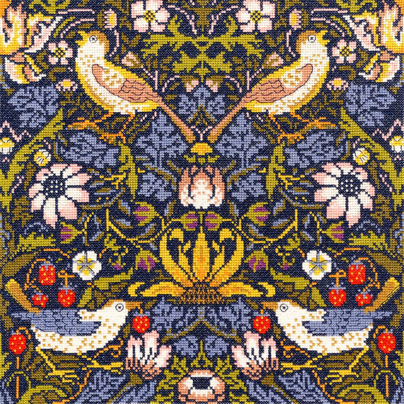 William Morris Strawberry Thief, Counted Cross Stitch Kit Bothy Threads
