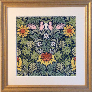 William Morris Sunflowers, Cross Stitch Kit Bothy Threads XAC4
