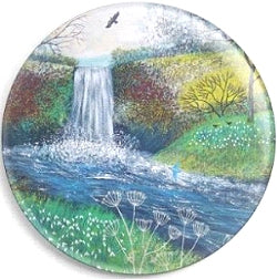 Needle Minder, Magnetic Needle Keeper, Snowdrop Falls by Jo Grundy 58mm