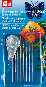 Prym Needles / Threader Pack. Tapestry, Cross Stitch, Chenille -124550