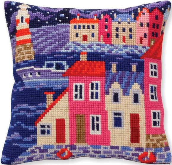 Night Harbour CROSS Stitch Tapestry Kit, Collection D'Art CD5386