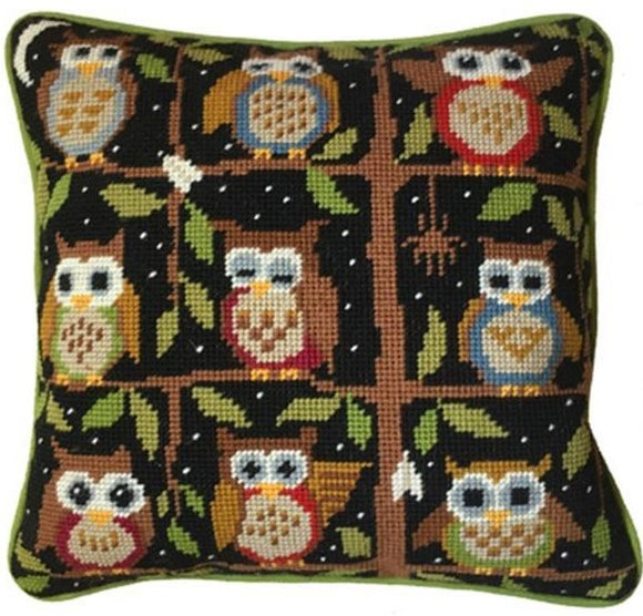 Night Owls Tapestry Needlepoint Kit, One Off Needlework