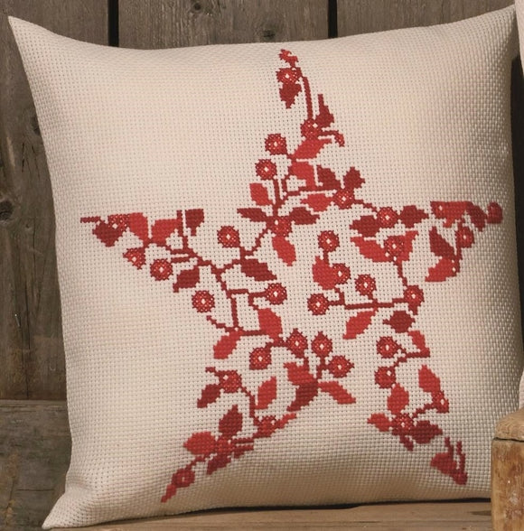 Nordic Berries Cross Stitch Kit Cushion Permin 83-7641